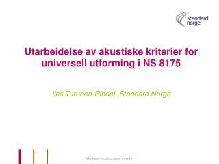 Arbeidsgruppe for akustiske kriterier for universell utforming