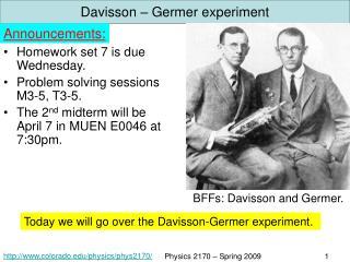 Davisson – Germer experiment