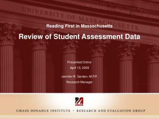 Review of Student Assessment Data