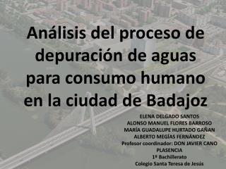 Análisis del proceso de depuración de aguas para consumo humano en la ciudad de  Badajoz