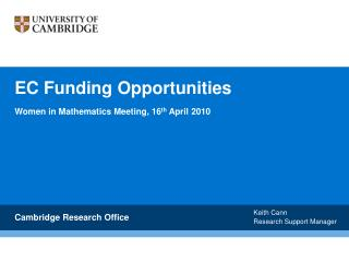 EC Funding Opportunities