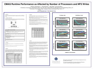 CMAQ Runtime Performance as Affected by  Number of Processors and NFS Writes