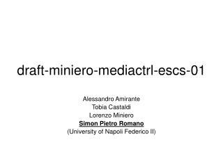 draft-miniero-mediactrl-escs-01