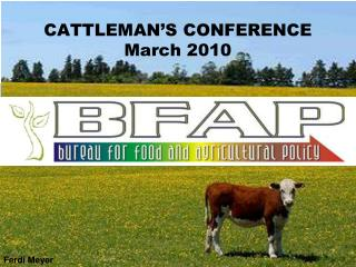 CATTLEMAN'S CONFERENCE March 2010