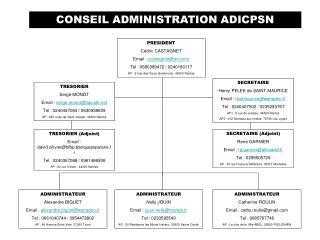 CONSEIL ADMINISTRATION ADICPSN