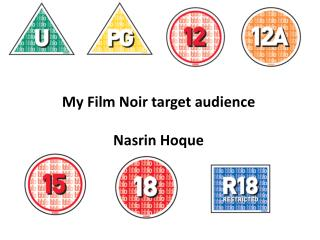 My Film Noir target audience Nasrin Hoque