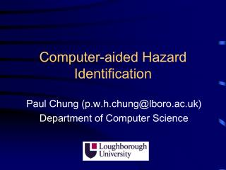 Computer-aided Hazard Identification