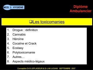 Les toxicomanies