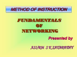 FUNDAMENTALS  OF   NETWORKING