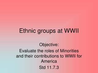 Ethnic groups at WWII