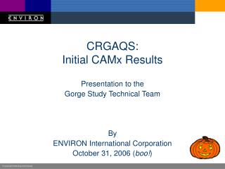 CRGAQS: Initial CAMx Results
