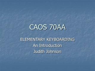CAOS 70AA