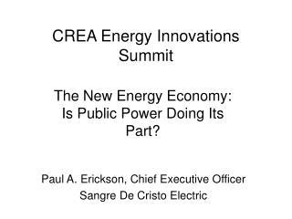 CREA Energy Innovations Summit