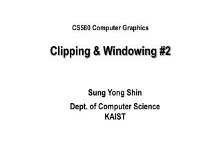 Clipping & Windowing #2