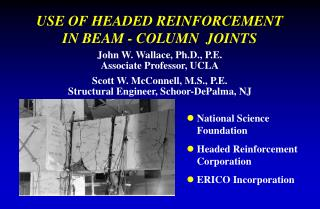 USE OF HEADED REINFORCEMENT  IN BEAM - COLUMN  JOINTS
