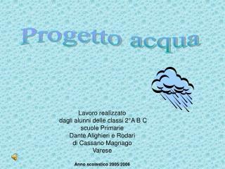 Lavoro realizzato  dagli alunni delle classi 2°A B C scuole Primarie  Dante Alighieri e Rodari