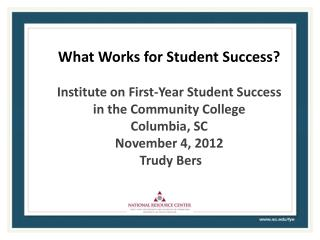 What Works for Student Success?