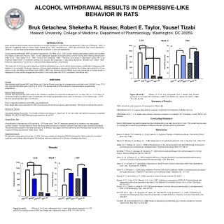 ALCOHOL WITHDRAWAL RESULTS IN DEPRESSIVE-LIKE  BEHAVIOR IN RATS