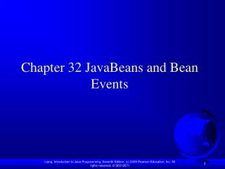 Chapter 32  JavaBeans and Bean Events
