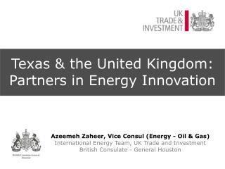 Texas & the United Kingdom:  Partners in Energy Innovation