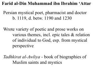 Farid al-Din Muhammad ibn Ibrahim 'Attar