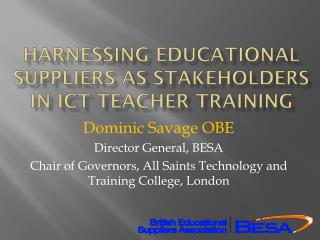 Harnessing Educational suppliers as stakeholders in ICT teacher training