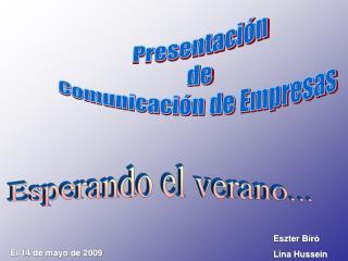 Presentación de Comunicación de Empresas