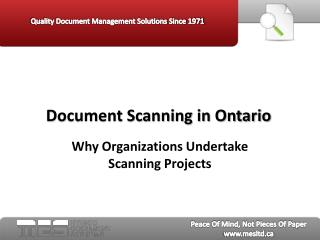 Document Scanning in Ontario - MES Hybrid