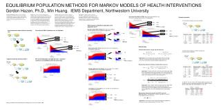 EQUILIBRIUM POPULATION METHODS FOR MARKOV MODELS OF HEALTH INTERVENTIONS Gordon Hazen, Ph.D., Min Huang.  IEMS Departmen