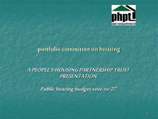 portfolio committee on housing