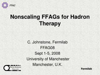 Nonscaling FFAGs for Hadron Therapy