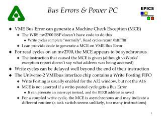 Bus Errors & Power PC