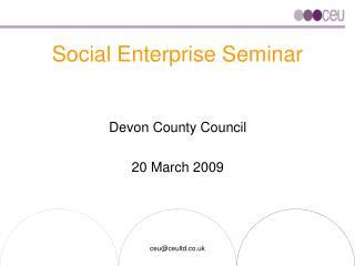 Social Enterprise Seminar