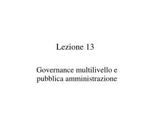 Lezione 13