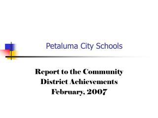 Petaluma City Schools