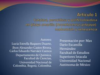 Autores: Luc�a Estrella Baquero Duarte,