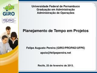 Universidade Federal de Pernambuco Graduação em Administração Administração de Operações