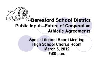 Beresford School District Public Input—Future of Cooperative Athletic Agreements