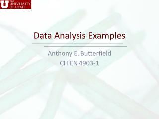 Data Analysis Examples