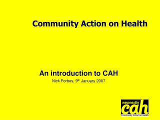 Community Action on Health