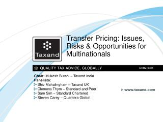 Transfer Pricing: Issues, Risks & Opportunities for Multinationals