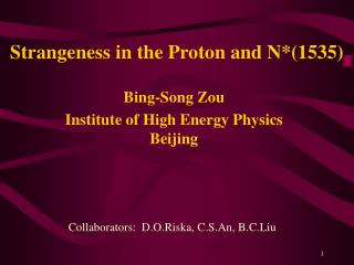 Strangeness in the Proton and N*(1535)