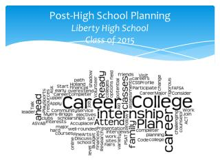 Post-High School  Planning Liberty High School Class of  2015