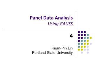 Panel Data Analysis Using GAUSS