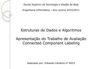 Escola Superior de Tecnologia e Gestão de Beja Engenharia Informática – Ano Lectivo 2010/2011