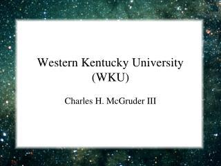 Western Kentucky University WKU