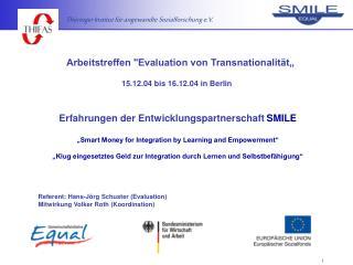 Arbeitstreffen Evaluation von Transnationalit t