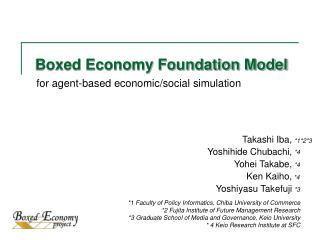 Boxed Economy Foundation Model