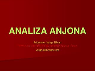 ANALIZA ANJONA