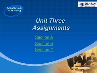 Unit Three  Assignments